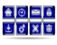 Knopfikonen für Website Lizenzfreies Stockbild