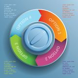 Infographic beståndsdelar Royaltyfri Bild