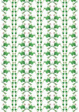 Knoppen en bladerenornament Stock Afbeelding