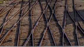 Knorriges Bahngleis Stockfotografie