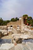 Knossos克利特希腊宫殿的废墟  库存图片