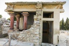 Knossos宫殿克利特 库存图片