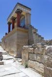 Knossos宫殿在克利特 图库摄影
