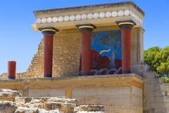 Knossos宫殿在克利特 免版税图库摄影