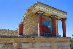Knossos宫殿在克利特 库存照片