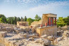 Knossos宫殿废墟 免版税图库摄影