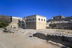 Knossos宫殿的废墟 库存图片