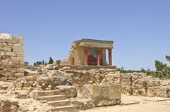 knossos宫殿风景视图 库存图片