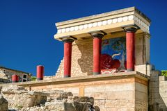 Knossos宫殿,克利特-希腊 免版税库存图片