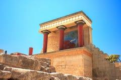 Knossos宫殿 库存照片