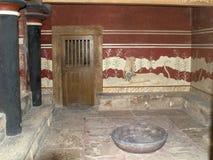 knossos宫殿 免版税库存照片