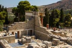 Knossos宫殿(Minotaur的宫殿废墟)克利特的 库存照片
