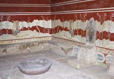 Knossos的王位空间 库存照片
