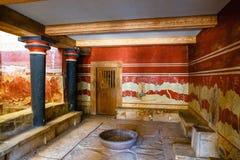 Knossos米诺宫殿的内部  Knossos宫殿是最大的青铜时代考古学s 库存图片