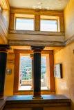 Knossos,克利特海岛,希腊米诺宫殿的内部  免版税库存图片