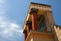Knossos,考古学站点,克利特,希腊 免版税图库摄影