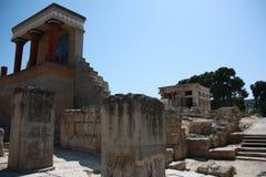 Knossos, древний город на острове Крита Стоковое Изображение