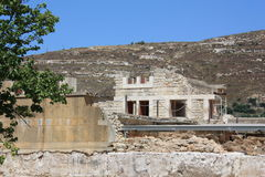 Knossos, древний город на острове Крита стоковые изображения