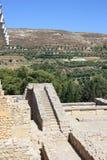 Knossos, древний город на острове Крита стоковые фотографии rf