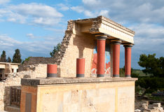 Knossos archaeological monument Crete Greece Stock Photography