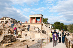 Knossos archaeological monument Crete Greece Stock Photos