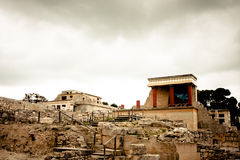 Knossos Archeological Site. Palace at Knossos Archeological Site in Crete, Greece Royalty Free Stock Photo