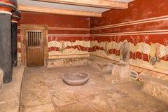 Knossos arkeologisk plats, Kreta, Grekland royaltyfria foton