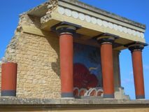 Palace of Knossos Stock Image