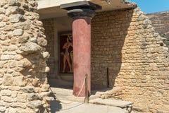Knossos, Cnossos palace, also Knossus Cnossus, museum in Crete, Greece Royalty Free Stock Image