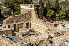 Knossos, Cnossos palace, also Knossus Cnossus, museum in Crete, Greece Stock Photos