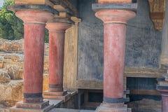Knossos, Cnossos palace, also Knossus Cnossus, museum in Crete, Greece Royalty Free Stock Photography