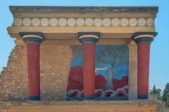 Knossos, Cnossos palace, also Knossus Cnossus, museum in Crete, Greece Stock Image