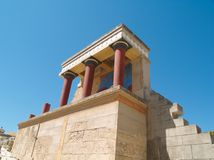 Knossos, Crete. Deatail of Knossos palace in Crete, built 2000 AD Stock Photography