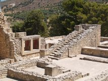 Knossos, Crete. Deatail of Knossos palace in Crete, built 2000 AD Stock Images