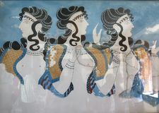 Knossos Crete, Grekland royaltyfria bilder