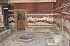 Knossos Crete i Grekland. Arkivbilder
