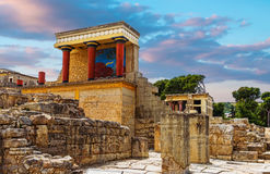 Knossos.Crete. Knoss palase on the Crete,Greece Royalty Free Stock Photos