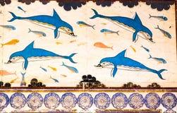Knossos delfin royaltyfria foton