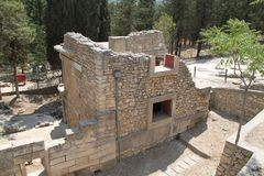 Knossos fördärvar, Kreta, Grekland Fotografering för Bildbyråer