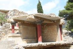 Knossos fördärvar, Kreta, Grekland Arkivfoto