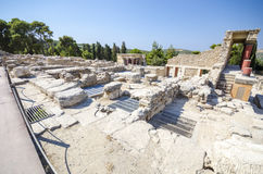 Knossos Kreta, Grekland Arkivbilder