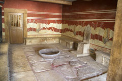 Knossos Kreta i Grekland Arkivfoton