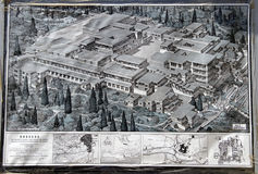 Knossos map Royalty Free Stock Photography