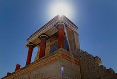 knossos minoan宫殿 免版税库存图片