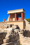 Knossos Minoan Palace. In Crete, Greece Stock Photography