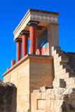 Knossos Minoan Palace. In Crete, Greece Royalty Free Stock Photo
