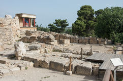 Knossos Minoan palace, Crete, Greece Royalty Free Stock Image