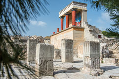 Knossos Minoan palace, Crete, Greece Stock Images