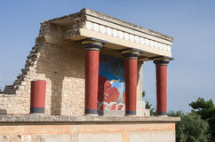 Knossos Minoan palace, Crete, Greece Stock Photography