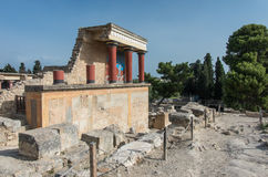 Knossos Minoan palace, Crete, Greece Royalty Free Stock Photography